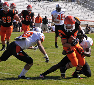 Georgetown College football team announces 2011 schedule. Photo by Richard Davis