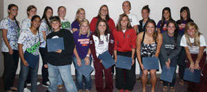 Five Georgetown College players earned All-Conference honors at the softball banquet recently.