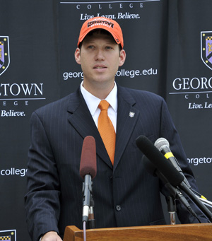 Chris Briggs was introduced Thursday as the new men's basketball coach. Photo by Paul Atkinson, Rockledge Photography