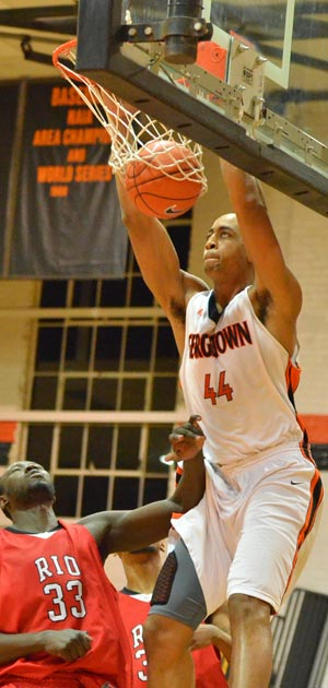 Maurice Pearson's double-double led the Tigers over WVT. Photo by Richard Davis