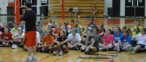 GC volleyball recently held its junior high, high school and elite camps in Davis-Reid Alumni Gym and the Rec.