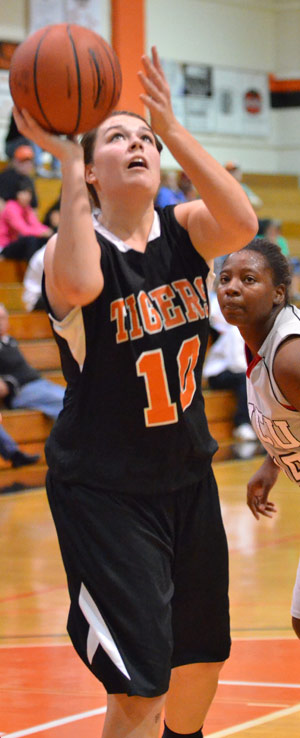Andrea Howard had a career night with 21 points and 10 rebounds. Photo by Richard Davis