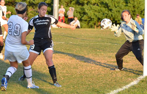 Alex Harbowy scored a goal earlier this season against Campbellsville, and her goal Wednesday helped GC back to the finals.