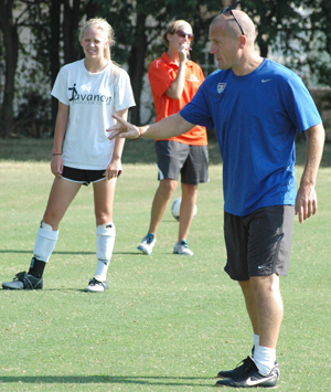 Former GC assistant coach Adrian Parrish directing women's soccer camp Friday and Saturday.