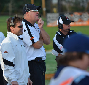 Coach Cronin, Coach Hill and Coach Mullins, pictured, as well as Coach Owens and CoacH Park are a win away from 150 at GC.