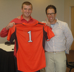 Brian Barry went first in the Orange & Black World Series Draft.