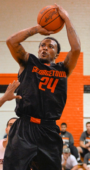 Dominique Hagans came up big in GC's only road game this season. GC travels to Martin Methodist today. Photo by Richar