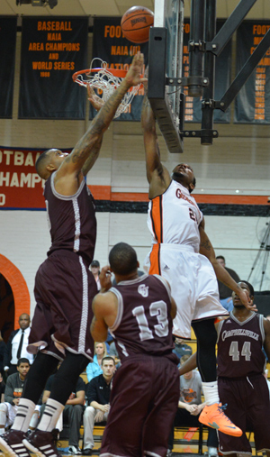 Tigers struggled to score late as rival Campbellsville erases 11-point deficit in overtime win. Photo by Richard Davis