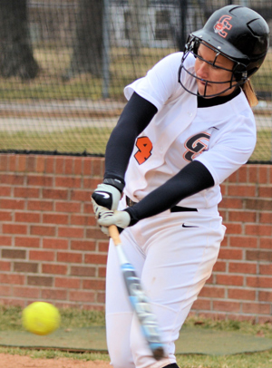 Chelsea Riney hit a solo homerun in beating UPike 8-0. Photo by Richard Davis