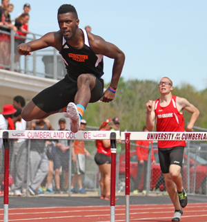 Logan Crockett won the 400-meter hurdles in the MSC meet. UC Multimedia & Athletics