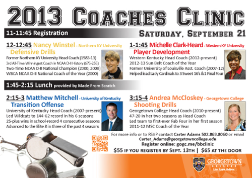 Women's basketball hosting coaching clinic