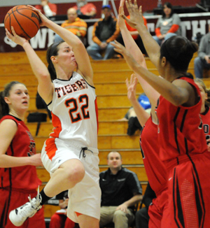 Haley Armstrong had a career-high 16 as GC advances in MSC tournament. Photo by Richard Robards