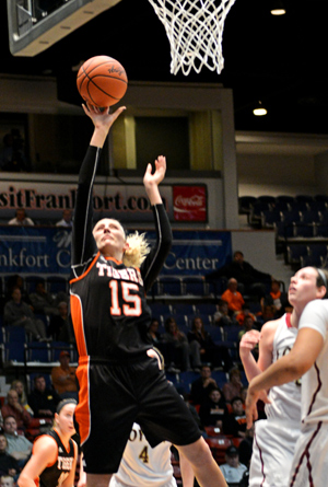 Jessica Foster led the Tigers with a career-high 22 points against Loyola. Photo by Richard Davis