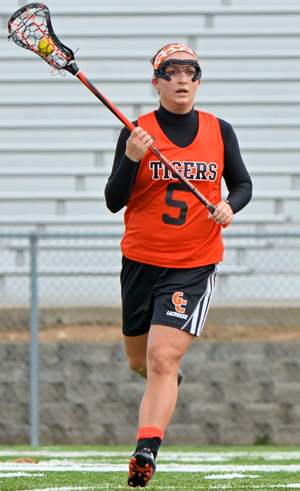Merissa Heraldson scored nine of the Tigers 26 goals Saturday. Photo by Richard Davis