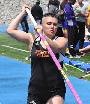 Maggie Murdock won the women's MSC pole vault competition.