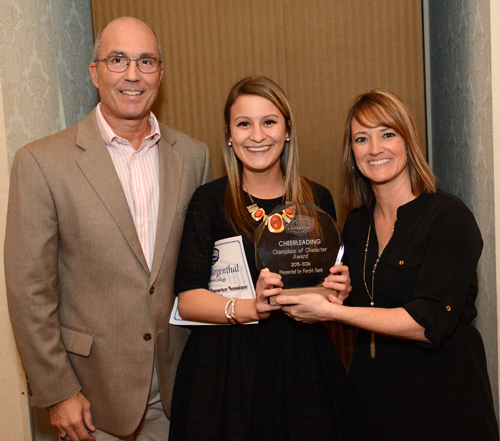 Rachel Mergenthal was honored as the MSC Cheerleading Champion of Character. Photo by Richard Robards