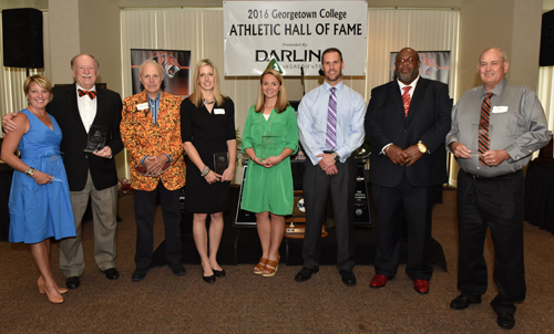 Georgetown College inducted five student-athletes, a coach and a team Saturday into the Athletic Hall of Fame. Photo by Richa