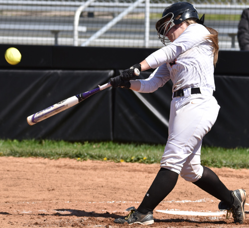 Rachel Simms hit a solo home run Tuesday. Photo by Richard Davis