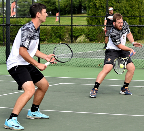 Austin Colliver and Josh Clay took an 8-1 doubles win Tuesday. Photo by Richard Davis