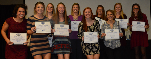 The Tigers had 10 women on the MSC all-academic honoree list. Photo by Richard Robards