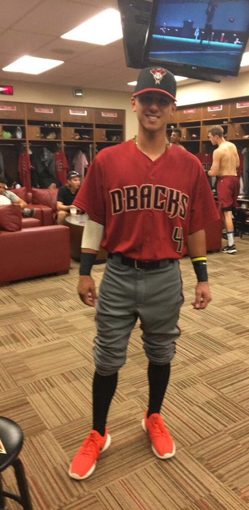 Chaz Meadows decked out in his Diamondback uniform.