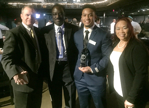 Kody Kasey was honored Saturday as Touchdown Club of Columbus' President's Award winner.