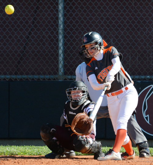 Chelsae Osborn bats against Campbellsville. Photo by CU's Richard Robards