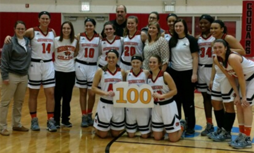 Tigers win 70-63 over Robert Morris and celebrate Coach McCloskey's 100th win.