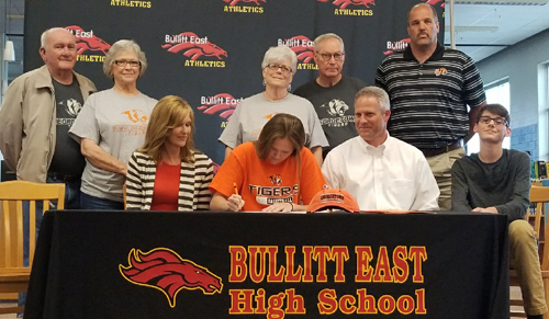 Raegan Williams signs with Georgetown College. Photo submitted