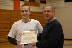 Georgetown College's Dillon Boggs with Mike Hockensmith of The Hockensmith Agency.
