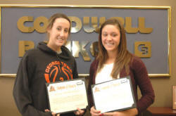 Georgetown College's Emily Drees (left) and Gina Beining (right).