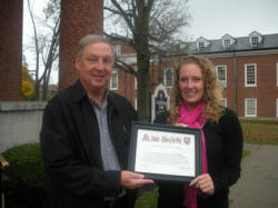 Mike Hockensmith of The Hockensmith Agency with Georgetown College's Erica Janszen.