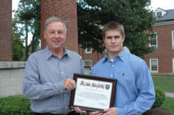 Mike Hockensmith of the Hockensmith Agency with Georgetown College's Nick Schickel.