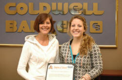 Coldwell Banker McMahan representative Kim Kearns and Georgetown College's Caitlin Williams