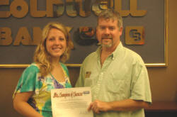Photo caption: Georgetown College's Caitlin Williams with Jim Prince of Coldwell Banker McMahan.